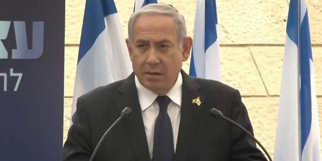 ראש הממשלה בנימין נתניהו בטקס יום הזיכרון, צילום: אלכס גמבורג