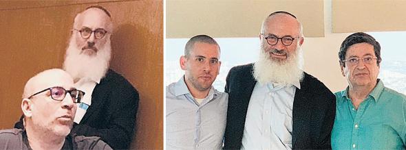 """צילומי המו""""מ עם המשקיעים החדשים בכלל (מימין): מורי ארקין, אלשטיין וניר ארקין; (משמאל) אלשטיין ואייל לפידות"""