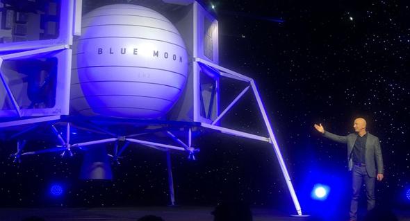 ג'ף בזוס אמזון חללית, צילום: CNBC