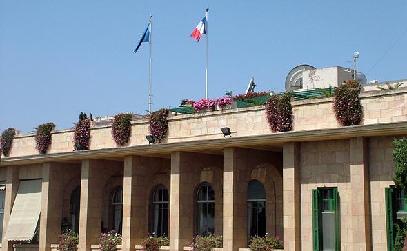 בניין הקונסוליה הצרפתית בירושלים. המחלוקת היא על שטח שנמכר ב־1993