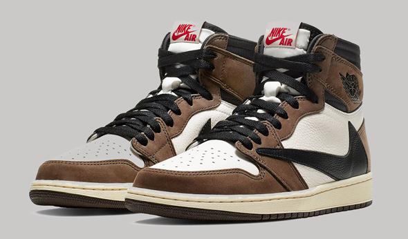 נעלי הנייקי Air Jordan 1 High OG TS. אזלו תוך שעות אתמול מרגע יציאתן לחנויות, צילום: בלומברג