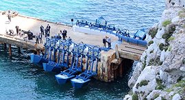 Eco Wave Power's system. Photo: PR