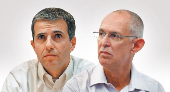 מימין אריק שור מנכל תנובה ו יובל כהן, צילום: עמית שעל