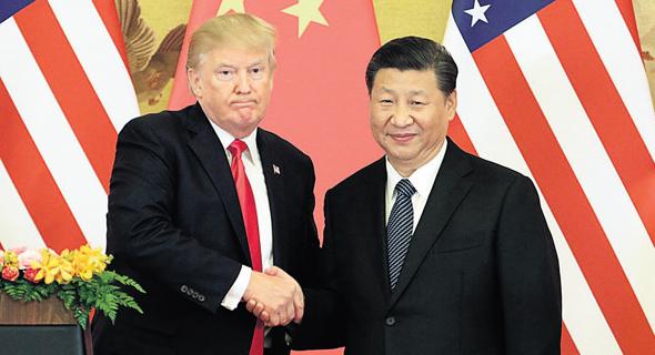 שי ג'ינפינג ו דונלד טראמפ, צילום: בלומברג