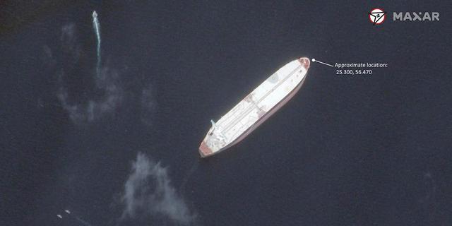 """""""איראן היתה מעורבת ב'פעולת החבלה'"""". תיעוד לוויין מהתקרית במפרץ"""