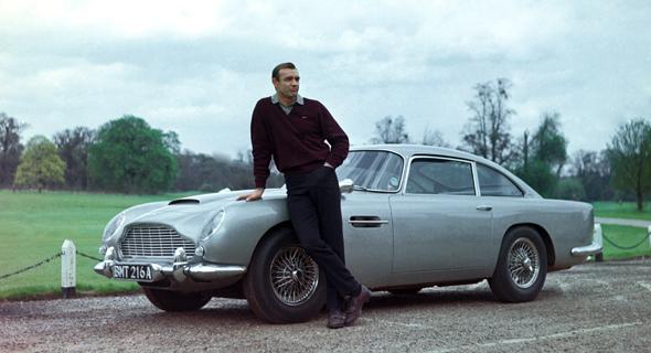 """אסטון מרטין DB5 בסרט ג'יימס בונד """"גולדפינגר"""" - יהיו חדשות לגמרי ויהוו העתק מדויק של הדגם הזה מ-1964 כמעט בכל אספקט שלהן"""