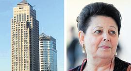 מימין רות עופר ו בניין סיטי טאוור רמת גן, צילום: עמית שעל, מיכאל קרמר