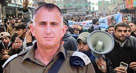 """ראש אמ""""ן האלוף תמיר הימן על רקע הפגנות ב עזה, צילום: דובר צה""""ל"""