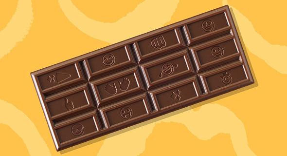 שוקולד הרשי החדש עם צורות אימוג'י