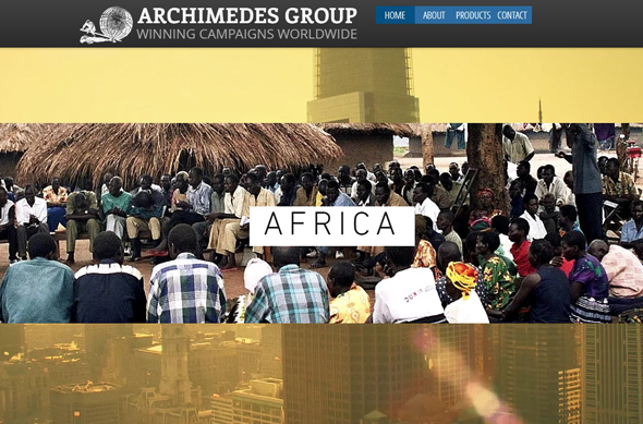 Archimedes Group's website (screenshot)