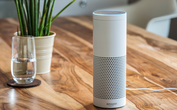 Amazon's Alexa-enabled smart speaker Echo Plus. Photo: Shutterstock