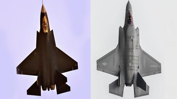 מימין: F35 אמריקאי, J31 סיני. דומים, לא?