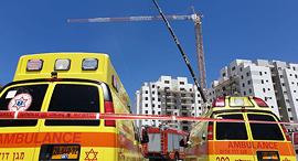 אסון אתר בנייה קריסת מנוף יבנה 2, צילום: אבי מועלם