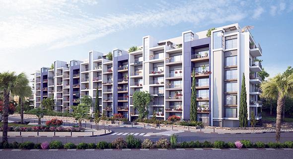 """הדמיית הפרויקט בשכונת נווה גולן. שטח הדירות הקיימות יגדל ב-25 מ""""ר"""
