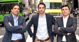 Siemplify founders Alon Cohen (left), Amos Stern, Garry Fatakhov. Photo: Siemplify