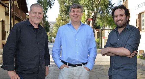 The Allen Institute's Israel team: Ron Yachini (left), Oren Etzioni, and Yoav Goldberg. Photo: PR