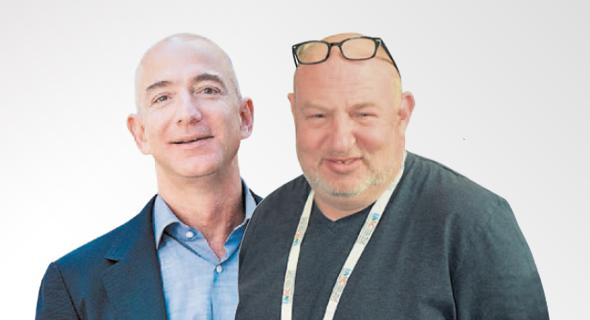 הראל ויזל ו ג'ף בזוס, צילום: חיים דוד, בלומברג