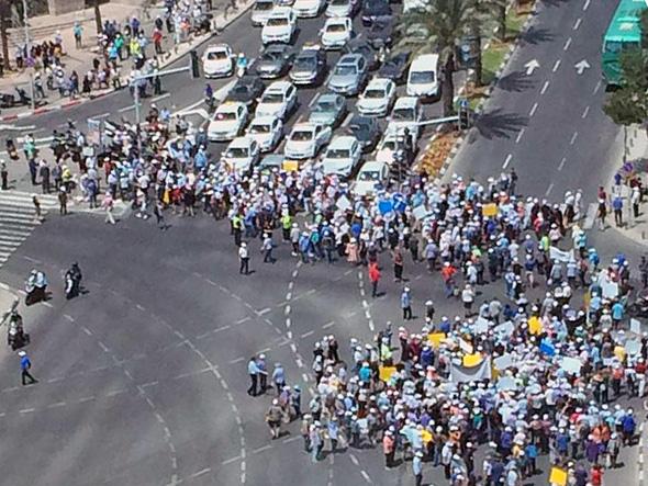 ההפגנה בעזריאלי, צילום: דרור רייך