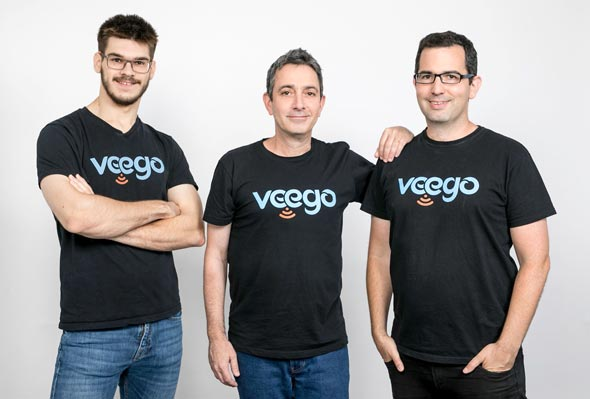 Veego founders Denis Sirov (left), Amir Kotler, Reffael Caspi. Photo: Veego