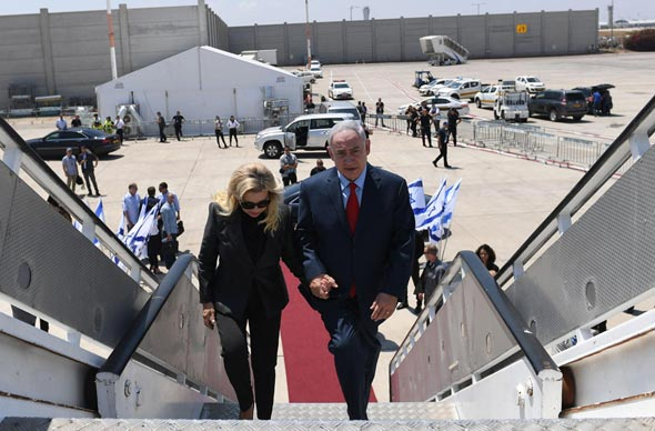 Benjamin Netanyahu and his wife. Photo: Kobi Giedon