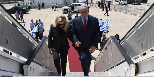 Benjamin Netanyahu and his wife. Photo: Kobi Gideon