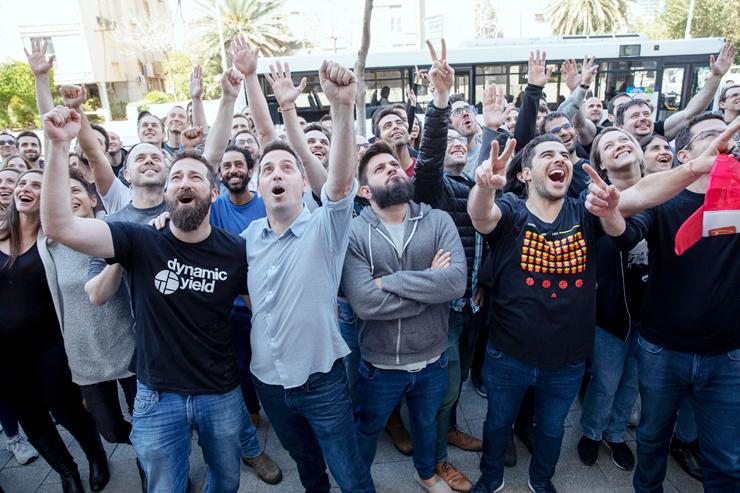 """עובדי דיינמיק יילד חוגגים את האקזיטים שלהם. """"המתעשר הישראלי הרבה יותר צעיר מהאירופי, וההון שלו חשוף. כולם יודעים בדיוק מי עשה כמה"""""""