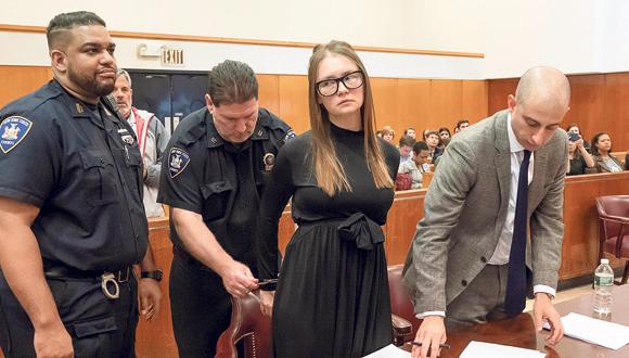 אנה סורוקין בבית משפט, צילום: רויטרס
