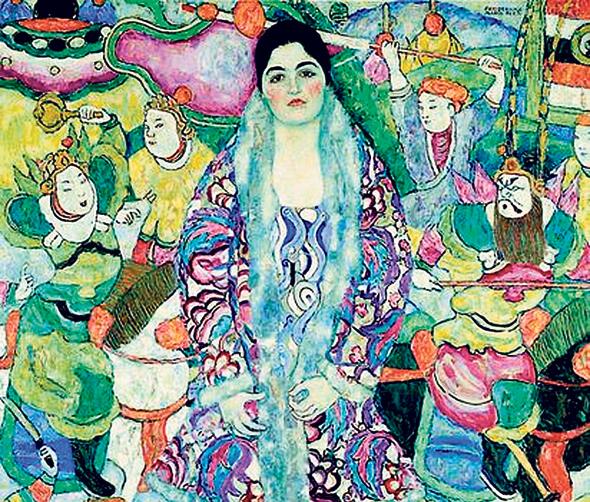 דיוקנה של פרדריקה מריה שיצר גוסטב קלימט. צבעוניות שמעוררת התפעלות ויראה, צילום: באדיבות מוזיאון תל אביב