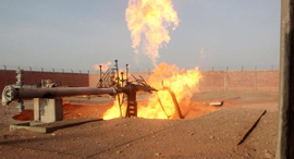 Sabotage explosions of the gas pipe, 2011. Photo: Reuters