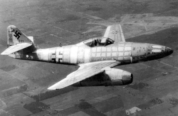 מסרשמיט 262, מטוס הקרב הסילוני של גרמניה הנאצית, צילום: USAF