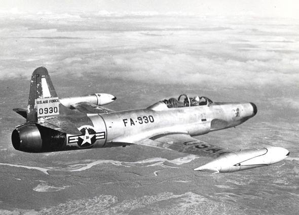 ה-F94 סטארפייר היה מטוס יירוט שסבל לאחר השקתו מבעיות אמינות, אך לאחר שתוקנו בדגם C, הפך לחביב על טייסיו, צילום: USAF