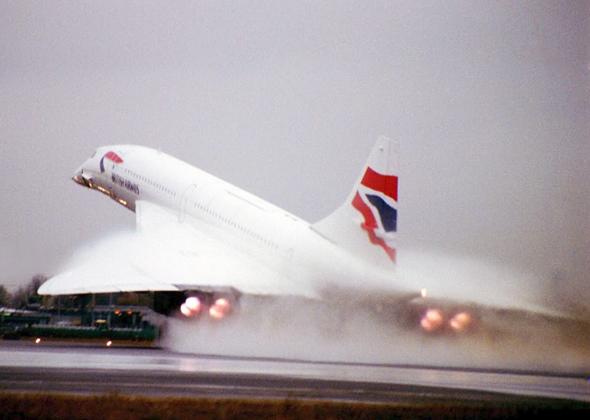 קונקורד ממריא, צילום: British Airways