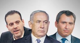 """מימין: השר זאב אלקין, ראש הממשלה בנימין נתניהו וח""""כ מיקי זוהר"""