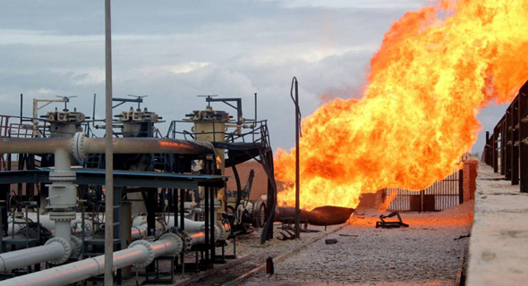 פיצוץ צינור הגז באל עריש, 2011 , צילום: אי. פי. אי