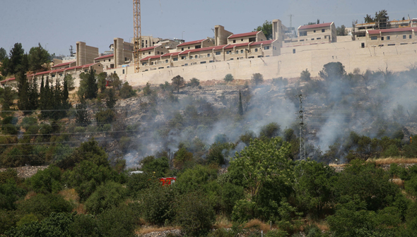 שריפה ליד מבשרת ציון