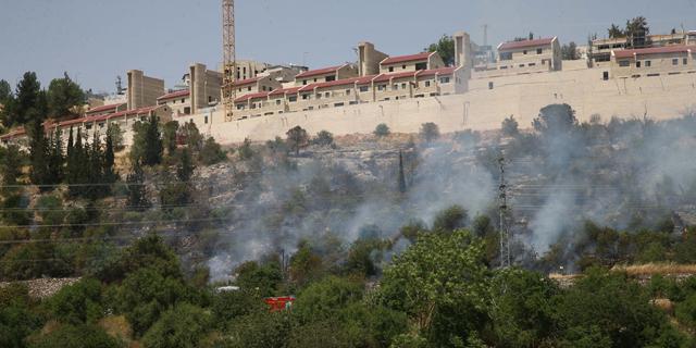 שריפה ליד מבשרת ציון, צילום: אוהד צויגנברג