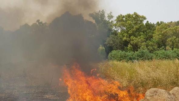 שריפה ליד כפר אוריה