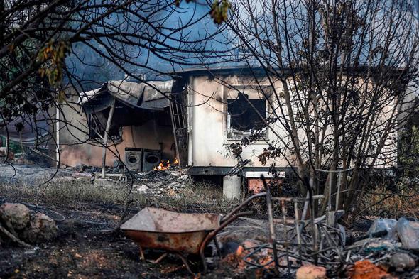 שריפה בקיבוץ הראל, צילום: איי אף פי