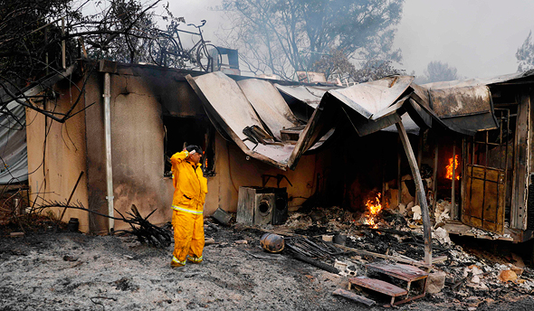 בית שרוף בקיבוץ הראל, צילום: איי אף פי