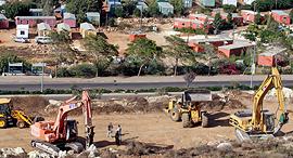 התחדשות הבניה ב אריאל לאחר הפסקת ה הקפאה ה בנייה ב שטחים, צילום: יריב כץ