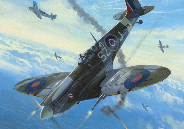 איור ספיט בריטי בטייסת פולנית