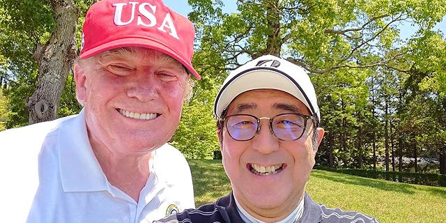 """ר""""מ יפן הזמין את טראמפ לצ'יזבורגר כדי להציל את הסחר"""