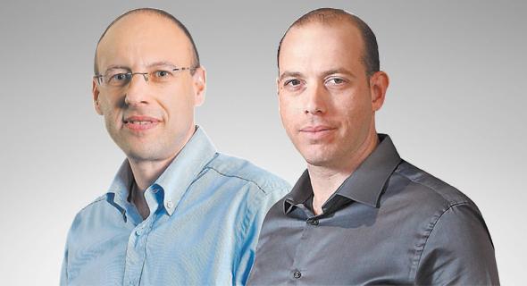 מימין צביקה שווימר ו גיל שרון, צילום: אוראל כהן