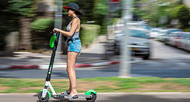 A Lime scooter in Tel Aviv. Photo: Yuval Chen