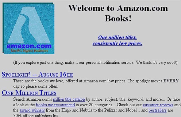 אמזוןשל פעם: חנות ספרים מקוונת, צילום: Amazon