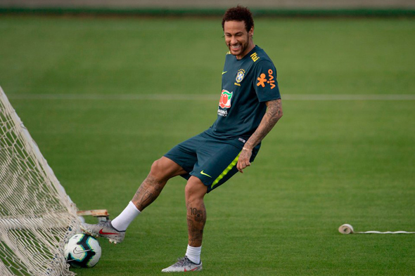 ניימאר אימון נבחרת ברזיל כדורגל , צילום: AFP