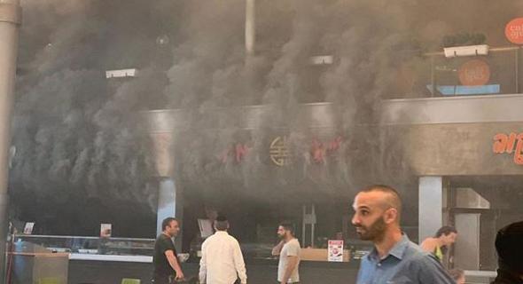 השריפה בשיפודי התקווה, צילום: YNET