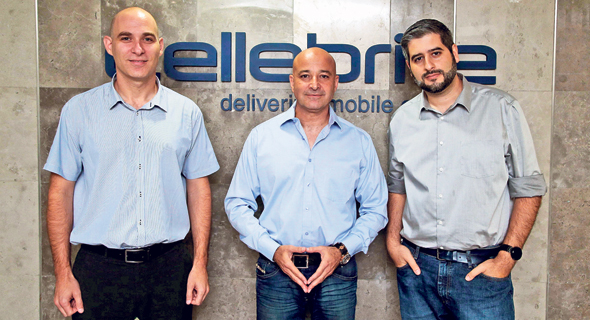 Cellebrite's Leeor Ben-Peretz (left), Yossi Carmil, and Shahar Tal. Photo: Yariv Katz