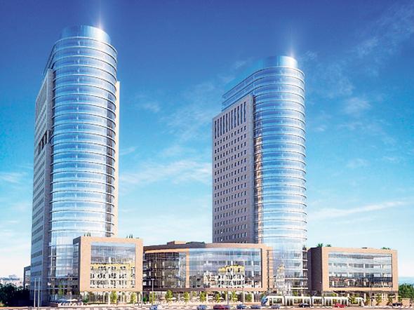 הדמיית המגדלים. יתנשאו ל־21 קומות