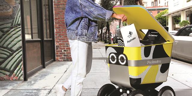 רובוט המשלוחים של Postmates, צילום: mark serr